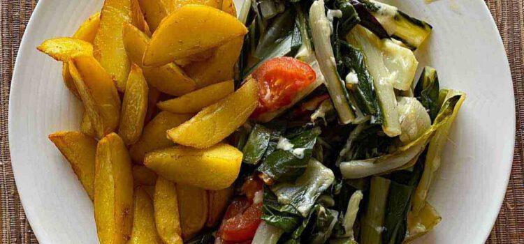 Mangold und Tomaten lecker überbacken