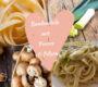 Bandnudeln mit Porree und Pilzen