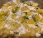 Kartoffel-Lauch-Pfanne mit Käse überbacken