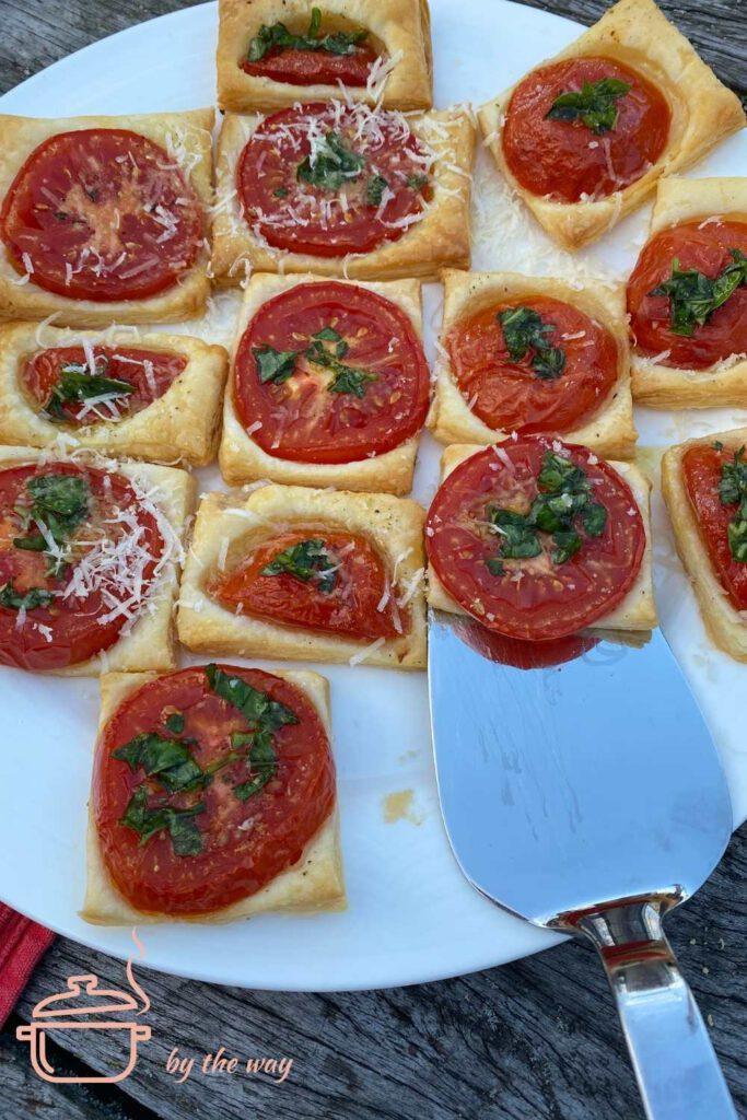 Tomaten Blätterteig Happen Rezept