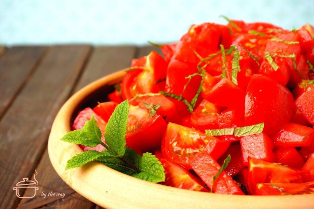 tomatensalate Wassermelone