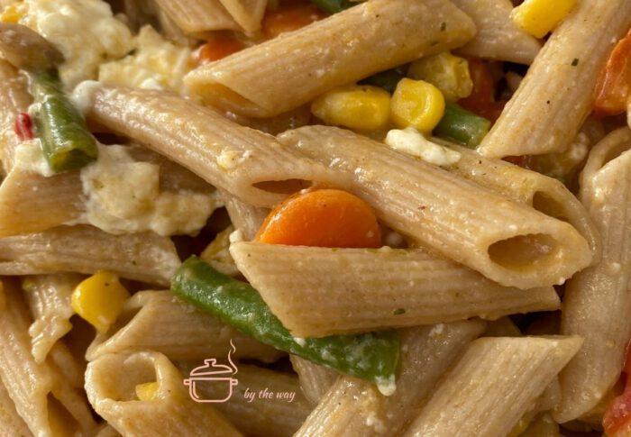 Nudel Gemüsepfanne schnell und schmackhaft