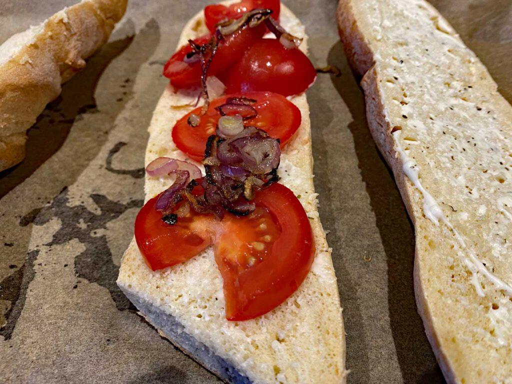 Zwiebel Käse Baguette